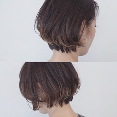 インナーカラー アッシュ 透明感 バレイヤージュ ヘアスタイルや髪型の写真・画像
