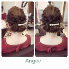 結婚式 ゆるふわ 愛され ヘアアレンジ ヘアスタイルや髪型の写真・画像