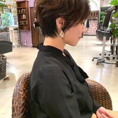 パーマ 毛先パーマ ショート ゆる巻き ヘアスタイルや髪型の写真・画像