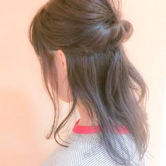 涼しげ ヘアアレンジ 簡単ヘアアレンジ コンサバ ヘアスタイルや髪型の写真・画像