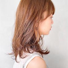 オレンジベージュ ナチュラル 外国人風 ミニボブ ヘアスタイルや髪型の写真・画像
