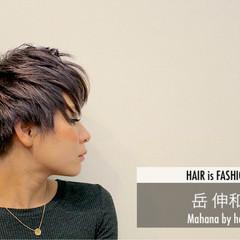 大人かわいい モード ベリーショート マッシュ ヘアスタイルや髪型の写真・画像