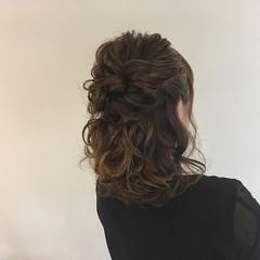 パーティ 結婚式 ナチュラル ヘアアレンジ ヘアスタイルや髪型の写真・画像