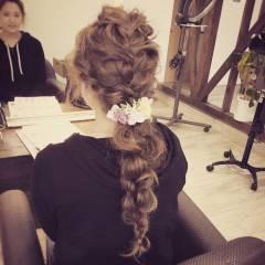 ナチュラル 大人かわいい ヘアアレンジ 結婚式 ヘアスタイルや髪型の写真・画像