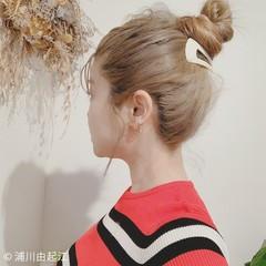 ゆるふわ ヘアアレンジ ハイライト ナチュラル ヘアスタイルや髪型の写真・画像