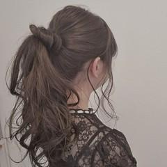色気 簡単ヘアアレンジ ヘアアレンジ 涼しげ ヘアスタイルや髪型の写真・画像