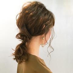 ハーフアップ ミディアム 簡単ヘアアレンジ 外国人風 ヘアスタイルや髪型の写真・画像