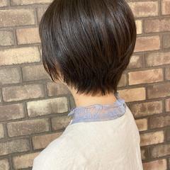 透明感 ショートヘア 大人ショート ナチュラル ヘアスタイルや髪型の写真・画像