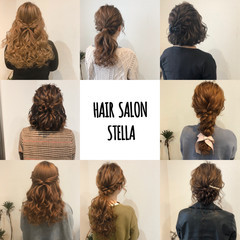 ヘアアレンジ ハーフアップ フェミニン セミロング ヘアスタイルや髪型の写真・画像