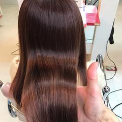 ナチュラル 髪質改善トリートメント 髪質改善 ミディアム ヘアスタイルや髪型の写真・画像