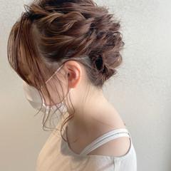 ヘアアレンジ 結婚式ヘアアレンジ ロープ編みアレンジヘア アップスタイル ヘアスタイルや髪型の写真・画像