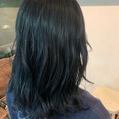 ダブルカラー 大人可愛い セミロング 透明感カラー ヘアスタイルや髪型の写真・画像