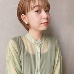 外国人風カラー 透明感カラー ショート エレガント ヘアスタイルや髪型の写真・画像