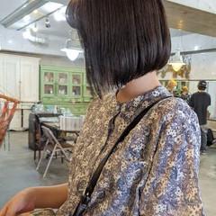 ボブ ワンカール ミニボブ ワンカールパーマ ヘアスタイルや髪型の写真・画像