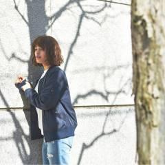 ストリート ストレート 暗髪 春 ヘアスタイルや髪型の写真・画像