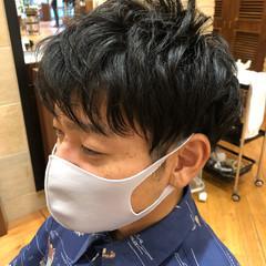パーマ ショート メンズ 刈り上げ ヘアスタイルや髪型の写真・画像