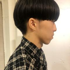 モード メンズヘア メンズマッシュ センターパート ヘアスタイルや髪型の写真・画像