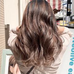 外国人風 ロング 透明感カラー エレガント ヘアスタイルや髪型の写真・画像