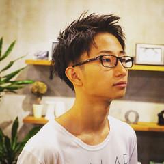 黒髪 ショート ストリート メンズ ヘアスタイルや髪型の写真・画像