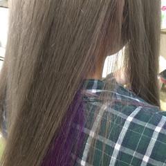 ストリート グレージュ グラデーションカラー ロング ヘアスタイルや髪型の写真・画像