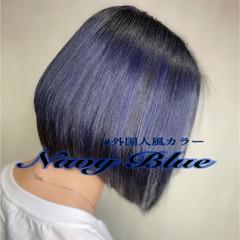 ボブ ナチュラル グラデーション ハイライト ヘアスタイルや髪型の写真・画像