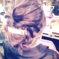 愛され フェミニン ヘアアレンジ コンサバ ヘアスタイルや髪型の写真・画像