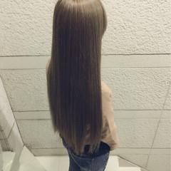 グレージュ イルミナカラー ブラウンベージュ 爽やか ヘアスタイルや髪型の写真・画像