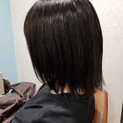 ナチュラル 暗髪 オフィス ボブ ヘアスタイルや髪型の写真・画像