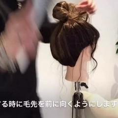 セミロング ヘアアクセ ヘアアレンジ フェミニン ヘアスタイルや髪型の写真・画像