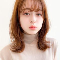 デジタルパーマ アンニュイほつれヘア ミディアムレイヤー ミディアム ヘアスタイルや髪型の写真・画像