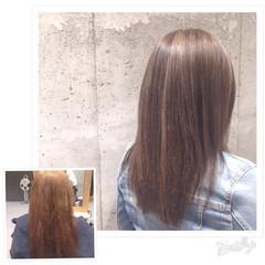 モード ハイライト ローライト グラデーションカラー ヘアスタイルや髪型の写真・画像
