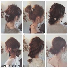 お団子 セミロング 夏 結婚式 ヘアスタイルや髪型の写真・画像