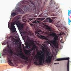 大人女子 ヘアアレンジ 結婚式 ミディアム ヘアスタイルや髪型の写真・画像