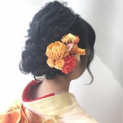 和装 セミロング 着物 和服 ヘアスタイルや髪型の写真・画像