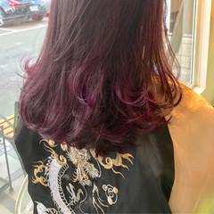 グラデーションカラー 大人かわいい 外国人風 ピンク ヘアスタイルや髪型の写真・画像
