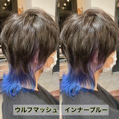 マッシュウルフ ウルフカット メンズマッシュ メンズカット ヘアスタイルや髪型の写真・画像