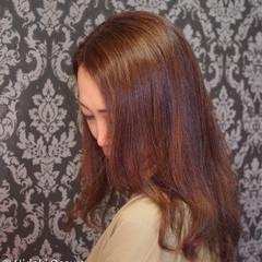 縮毛矯正 デジタルパーマ セミロング 大人かわいい ヘアスタイルや髪型の写真・画像