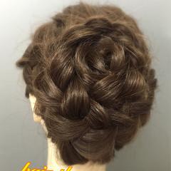 ヘアアレンジ アップスタイル 編み込み 和装 ヘアスタイルや髪型の写真・画像