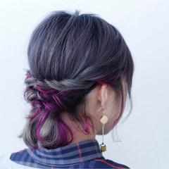 グラデーションカラー ボブ ダブルカラー ブリーチ ヘアスタイルや髪型の写真・画像