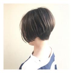 ハンサムショート ショート 透明感カラー ショートボブ ヘアスタイルや髪型の写真・画像