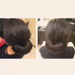 ロング 黒髪 結婚式 ヘアアレンジ ヘアスタイルや髪型の写真・画像