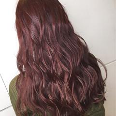 ゆるふわ 外国人風 ロング ピンク ヘアスタイルや髪型の写真・画像