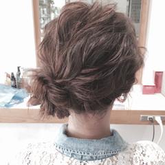 ゆるふわ ショート 波ウェーブ ヘアアレンジ ヘアスタイルや髪型の写真・画像