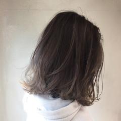 春 ストリート ハイライト ミディアム ヘアスタイルや髪型の写真・画像