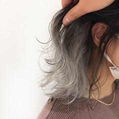 ボブ ブリーチカラー ホワイトカラー モード ヘアスタイルや髪型の写真・画像