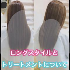 うる艶カラー 大人ロング 髪質改善 ナチュラル ヘアスタイルや髪型の写真・画像
