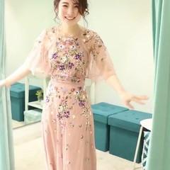 結婚式ヘアアレンジ ポニーテールアレンジ ロング フェミニン ヘアスタイルや髪型の写真・画像