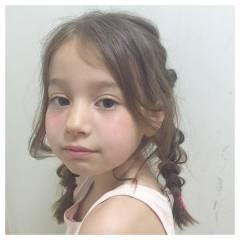 ヘアアレンジ モテ髪 三つ編み 愛され ヘアスタイルや髪型の写真・画像