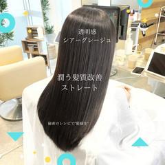 縮毛矯正 前髪 髪質改善 ストレート ヘアスタイルや髪型の写真・画像