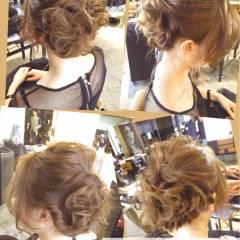 ロング ヘアアレンジ ウェーブ 結婚式 ヘアスタイルや髪型の写真・画像